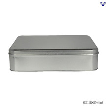 Big reatangle metal tin can with removable lid