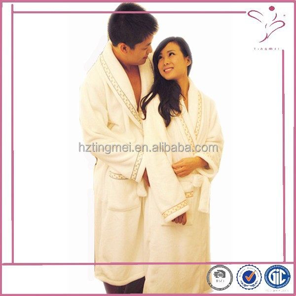 High quality couples wool fleece bath robe soft and warm made in China