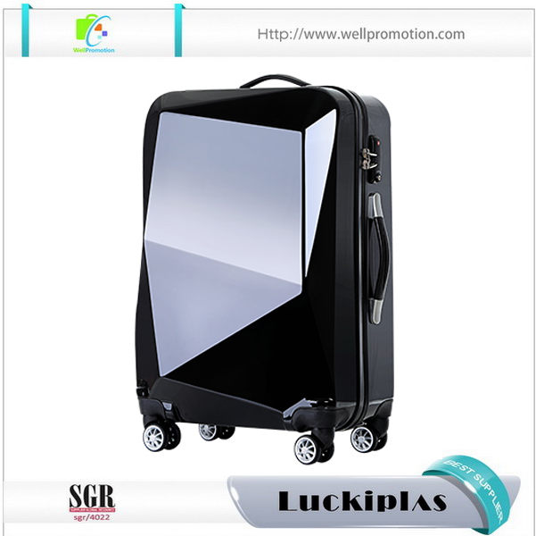 Personalized eye catching luggage suitcase set with diamond shape looking