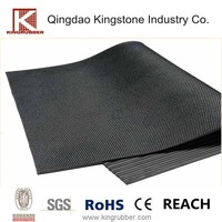 Black 10mm Rolled Rubber Cow Bed