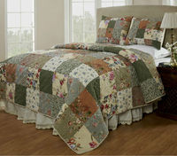 Colorful little flowers patchwork style indian quilts for sale