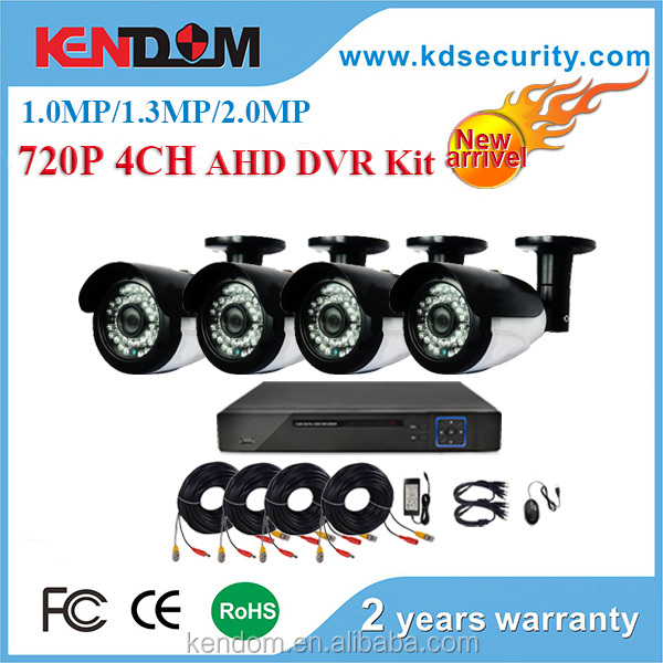 High Quality 4ch 1080P AHD-H DVR 4PCS HD 2.0MP 1080P Real Time Outdoor Security Cameras Video DVR Kits CCTV Surveillance System
