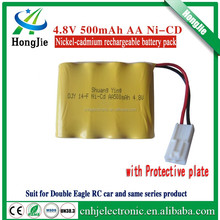 4.8V 500mAh AA Double Eagle RC car nickel-cadmium rechargeable battery pack