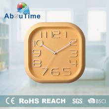 Hot sale promotional plastic photo frame square shape 3D dial wall clock