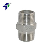 Super Whole 34 Male Hex Nipple Stainless Steel 304 Threaded Pipe Fitting NPT