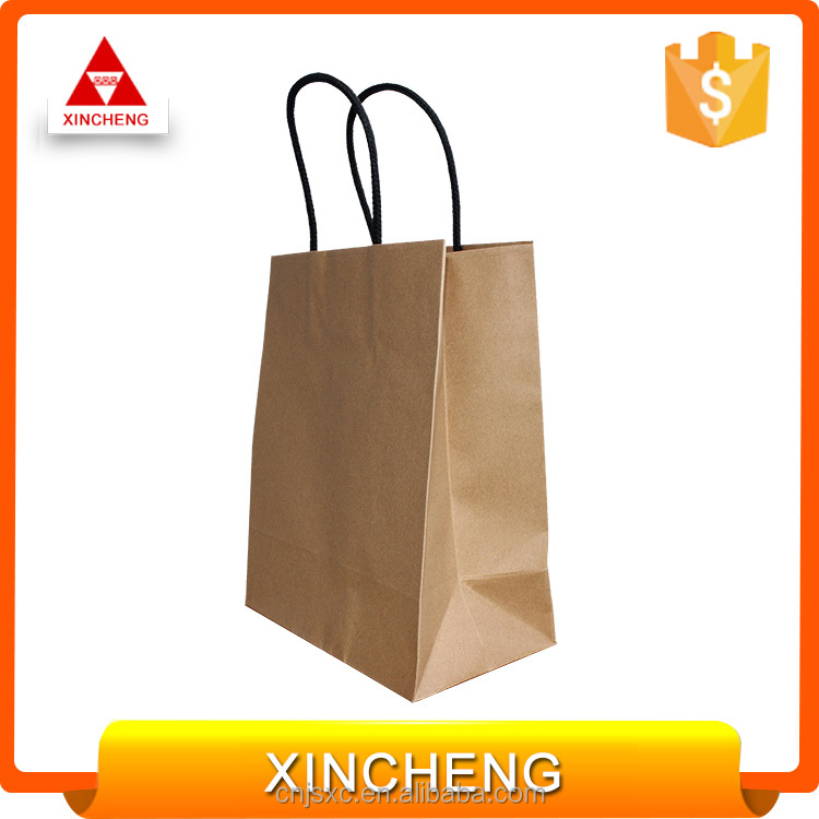 Recycled custom printing cheap paper packaging bag in China