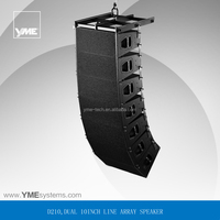 D210 two way double 10 inch line array, crossover outside
