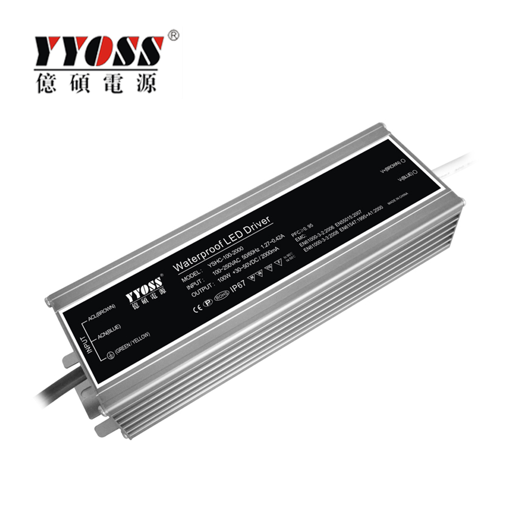Professional Manufacturer TUV IP67 80w 100w 700ma waterproof constant current led driver for led light