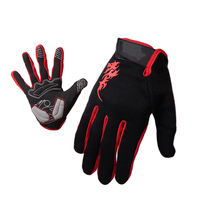 Men's sport touch screen finger tips motorcycle glove