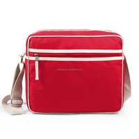 Citizen red cotton canvas retro sports flight bag
