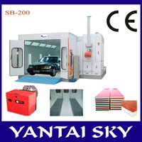 2015 China supplier down draft spray paiting booth, spray tanning booth, infrared lamp for painting