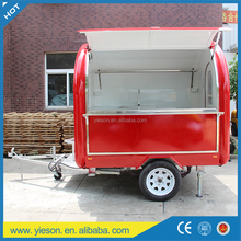 New High Quality food cart stainless steel stall mobile restaurant mobile hotdog cart