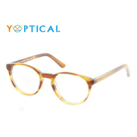 Wholesale Eye wonder Women Blue Havana Grey Retro Eyes Acetate Frames Men Round Eyeglasses CH1131