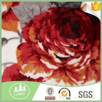 Hot Selling Fashion 100% Polyester Coral kashmir Blanket