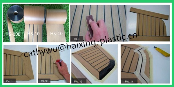 anti corrosion of sea water synthetic teak floor for boat