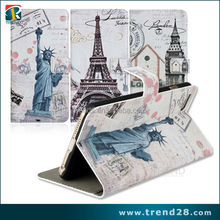 china supplier mobile phone flip leather case cover for iphone 6 plus