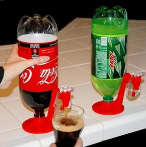 The Magic Tap Saver Soda Dispenser Bottle Coke Upside Down Drinking Water Dispense Party Bar Kitchen Gadgets