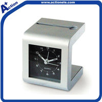 alarm table clock with penholder and cardholder