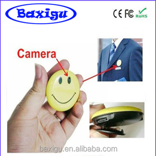 Wholesale Hot Selling Mini Hidden Smile Face Camera with Clip + Mini Hidden Smile Face Camera Hidden Spy Smile Face Camera