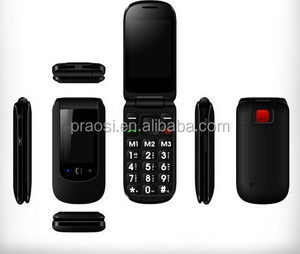 folding high quality elderly mobile phone with low radiation/big button/dual SIM FM