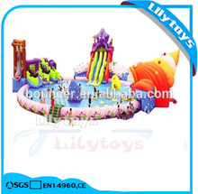 Lilytoys giant inflatable water park equipment prices for adult with pool slide