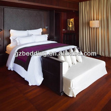 China bedding set factory sale 4 stars white color hotel bed sheets