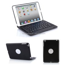 Ultra Slim Aluminium Bluetooth Keyboard with cover case for ipad Mini 1/2/3