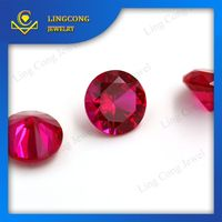 small size semi precious machine cut loose gemstone ruby with aaa grade