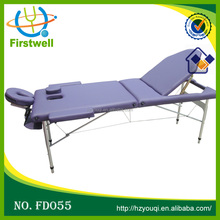 3 Section Portable Folding Ayurveda Portable Mechanical Massage Table Beauty salon aluminum massage table