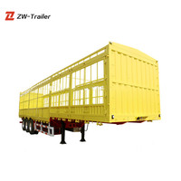 Hot Sale Chinese Best Vehicles Fence Semi Trailer Animal Transport Trailer