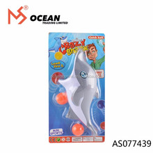 Sport outdoor funny toys plastic crazy dolphin shape catch ball gun toy