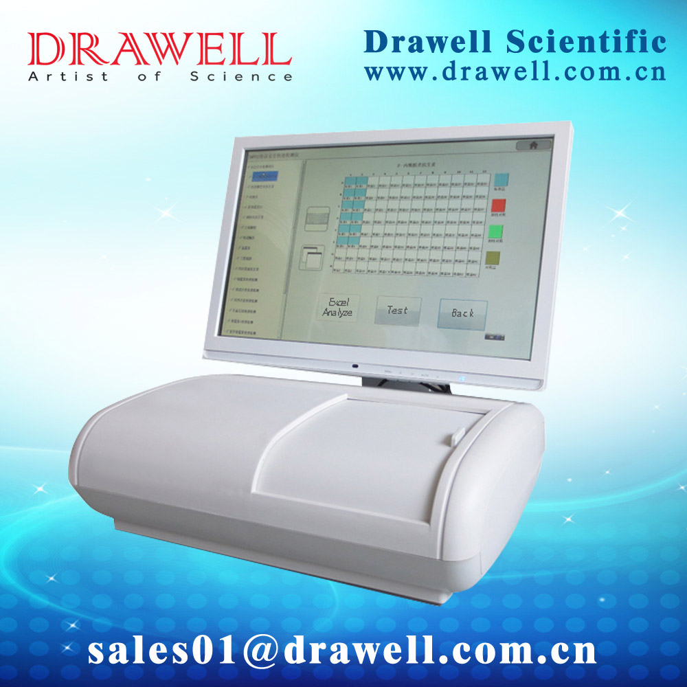 DRAWELL 800 Fully Automatic ELISA Plate Analyzer,Elisa Processor Station (skype:sales03@drawell.com.cn)