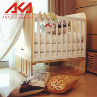 Newest model classical comfortable solid wood baby bed picture