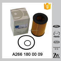 High quality engine parts lube filter for lubrication system oil filter element OEM.A266 180 00 09 BOSCH 1 457 429 306