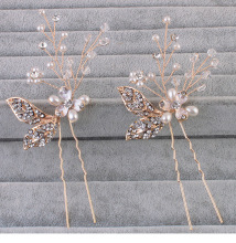 Handmade Wedding Hair Comb Clip Pearl Hairpin Rhinestone Combs bride hair accessories bride to be sash