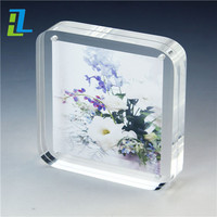 Photo Frames Designs Beautiful Frame Acrylic Lucite Plastic Photo Frame with Flower Vase