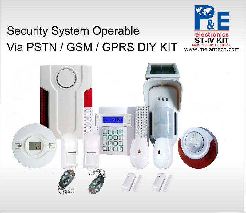 GSM SIM Card& landline home automation security system WITH SD card to upgrade software