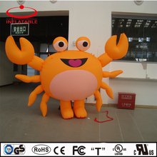 inflatable sea creature, inflatable decoration cartoon, inflatable orange smile crab