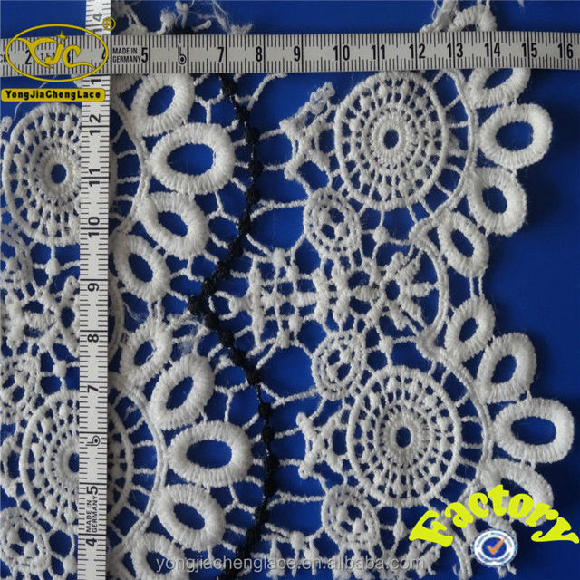YJC16150 Popular saree lace and border it is factory sale cotton embroideried fabric