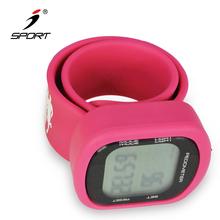 Newest High-tech Unisex Silicone Led Walking Meter Watch