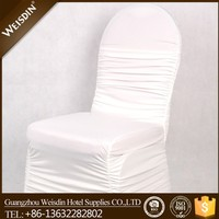 Spandex/polyester white universal wrinkle chair covers for weddings banquets