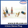 Hi End Gold Plated 3.5-G Gold plated 3.5MM Male headphone Terminal Gold