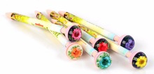 New best creative REAL flower top funny pen