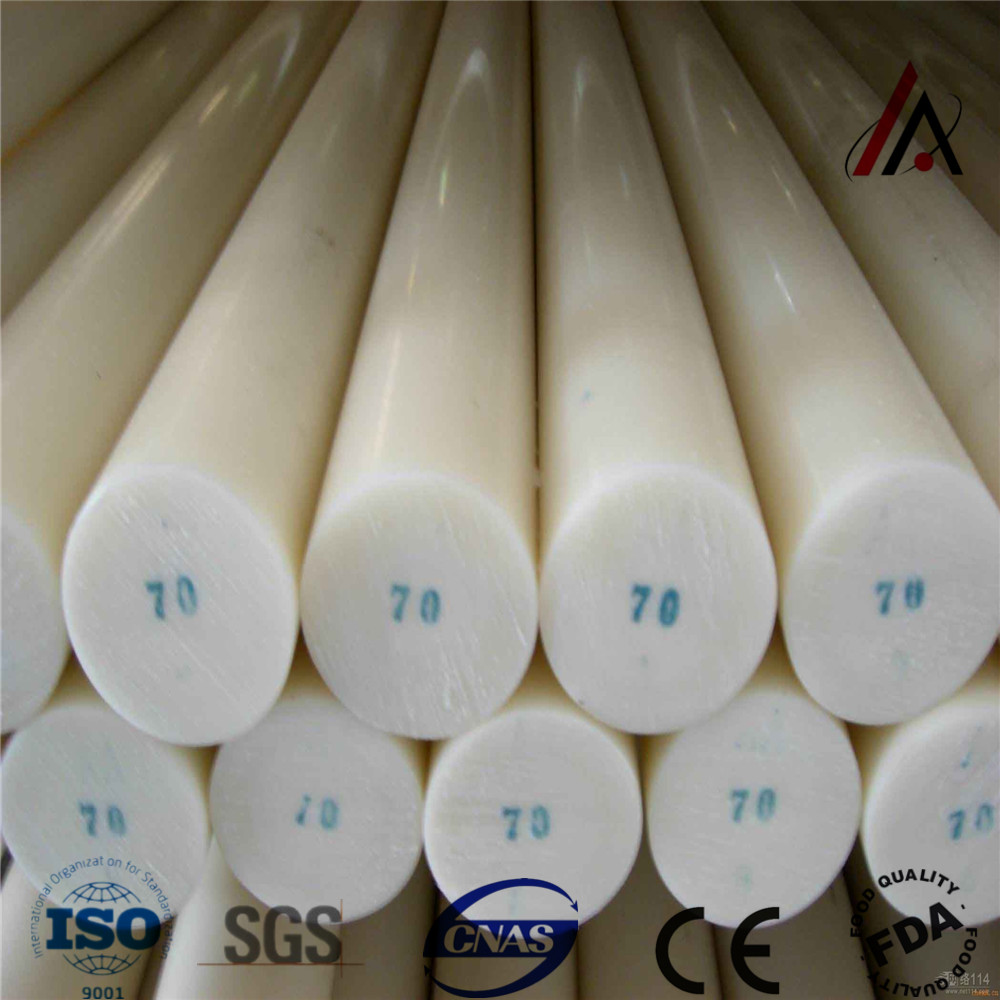 Natural UHMWPE Rod Wear-resistant Plastic welding Rods PA6 Nylon Rod