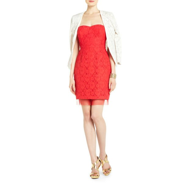 STRAPLESS COCKTAIL WOMEN'S DRESS