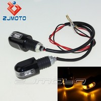 7/8'' Motorcycle Bike Handle Bar End LED Plug LED Bar End Turn Light Turn Signal Light Motorcycle Winker Lamp Led