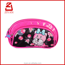 Mini multi pocket pinky girls pencil pouch