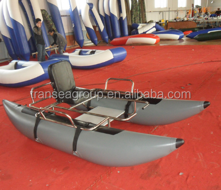 CE certificate PVC inflatable fishing pontoon boat for sale