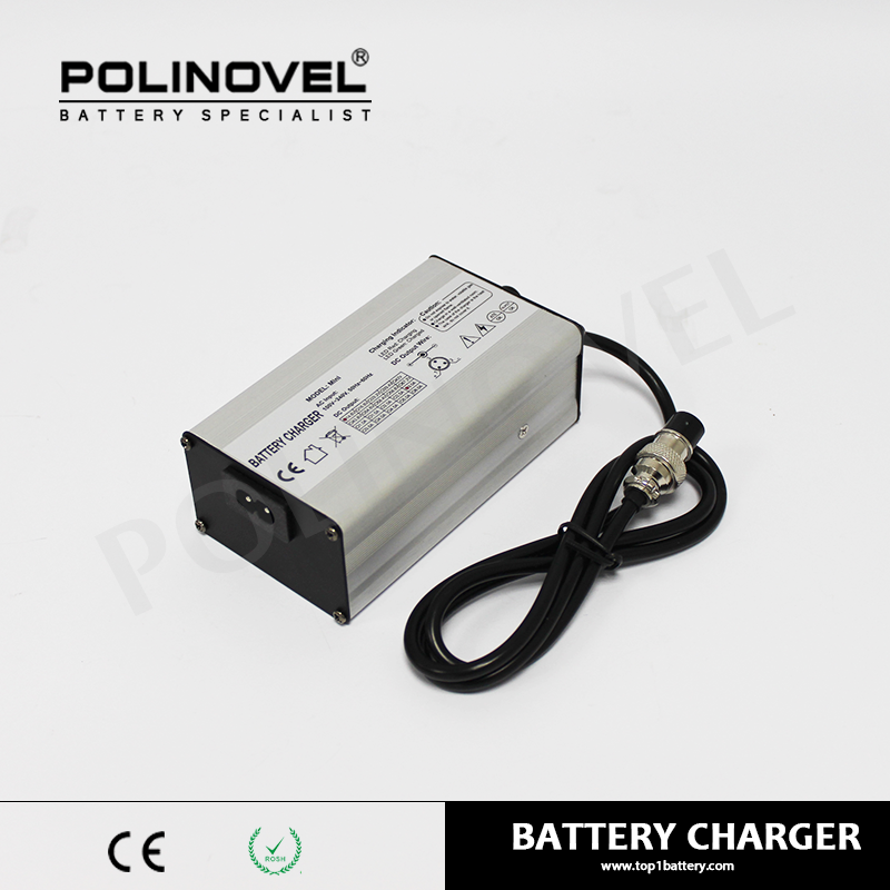 Mini size 12V 3A lithium battery charger in aluminum case