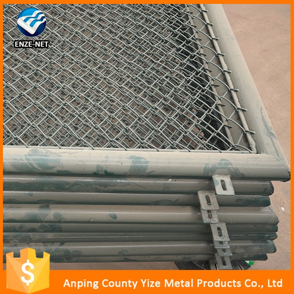China supplier garden chain link fence for decoration/treated wood type chain link fence